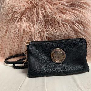 Michael Kors Black Crossbody/ Wristlet Bag